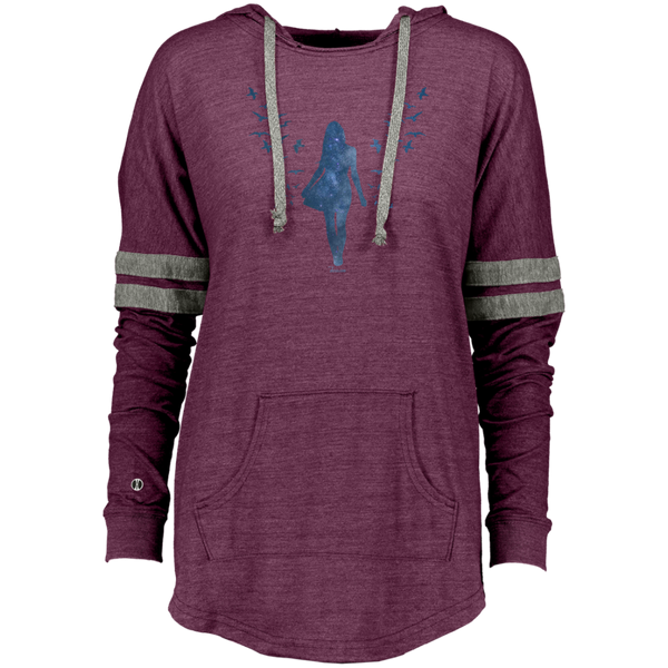Ladies Hooded Low Key Pullover - She is Whimsical