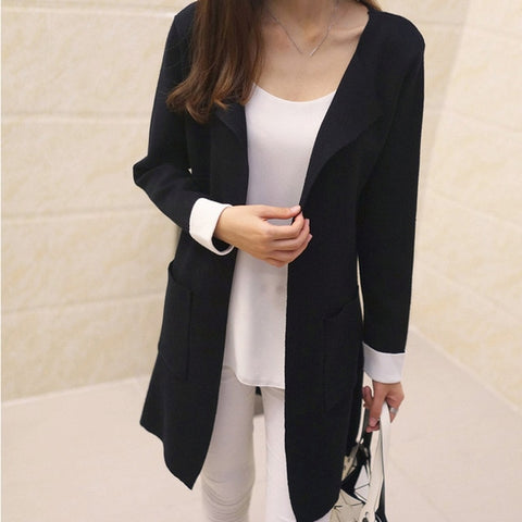 Stylish Longline Cardigan Coat