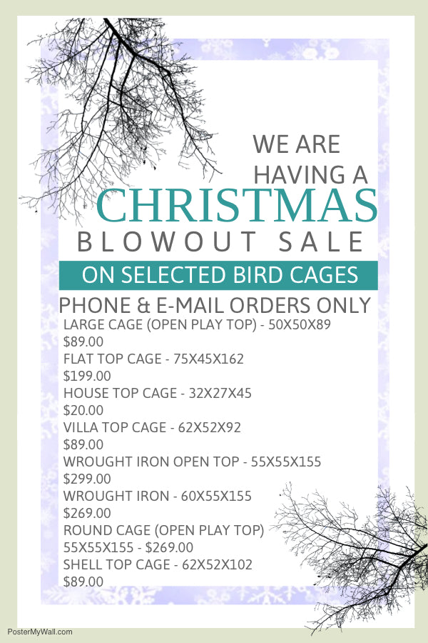The Christmas Cage Sale is here!