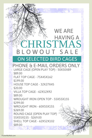 Parrot Supplies Australia Christmas Cage Sale