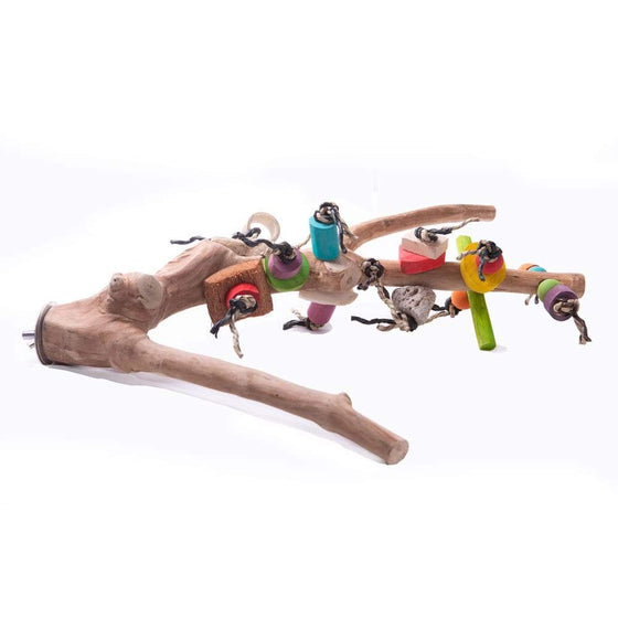 Nino's Javawood Multi Branch Perch with Toys