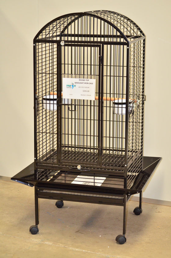 Round Top Wrought Iron Cage 60x55x165