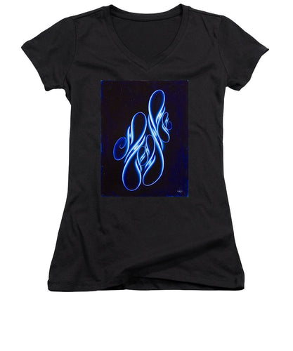 Flowing And Glowing, No. 1 - Women's V-Neck T-Shirt