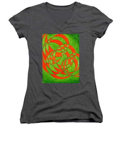 Intersection, No. 1 - Women's V-Neck T-Shirt