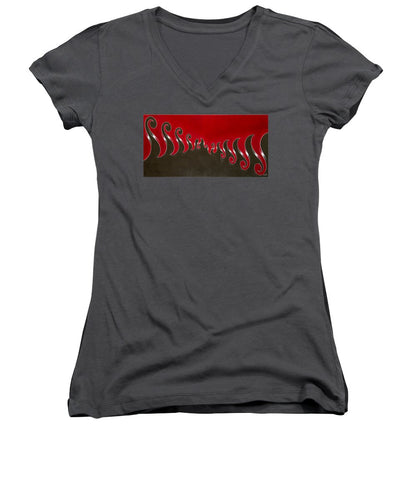 Sawtooth Wave, No. 1 - Women's V-Neck T-Shirt
