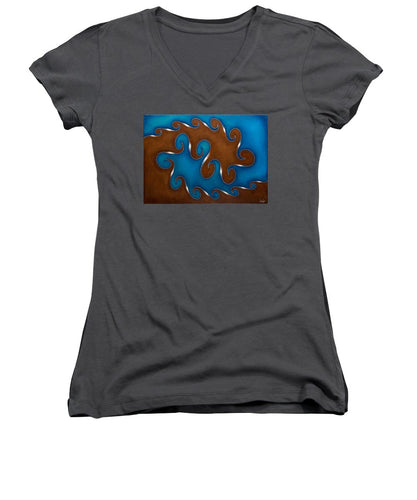Vortex, No. 3 - Women's V-Neck T-Shirt