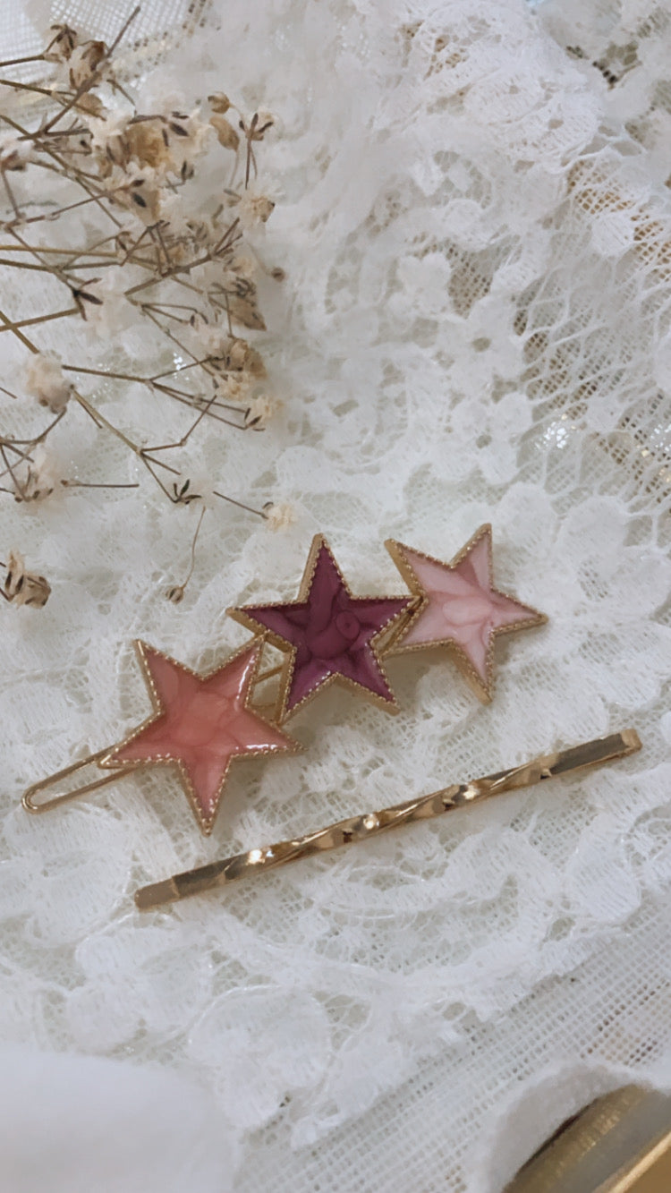 Set hair clips fermaglio con stelle colorate e forcina