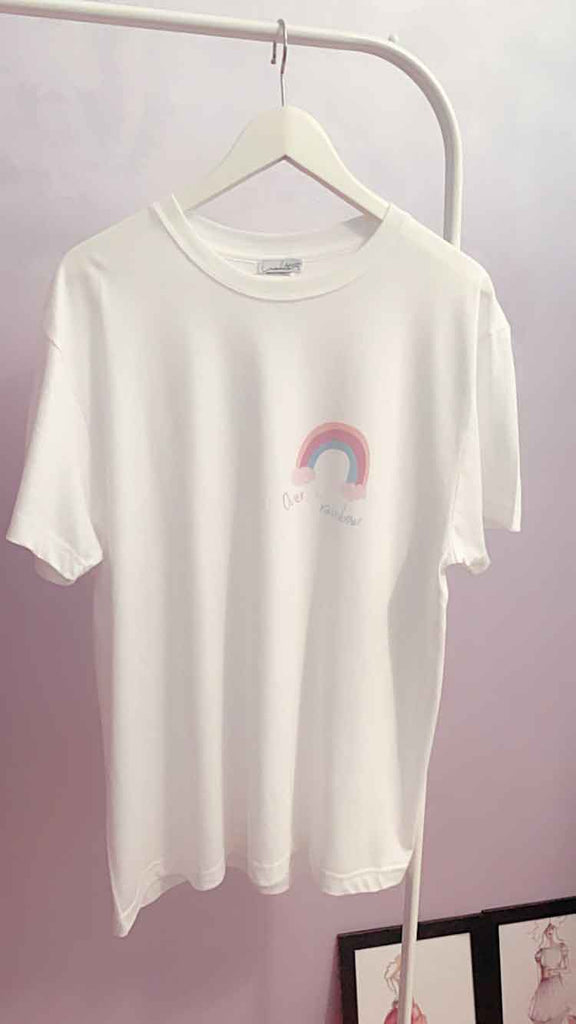 T-shirt cotone organico Over the Rainbow