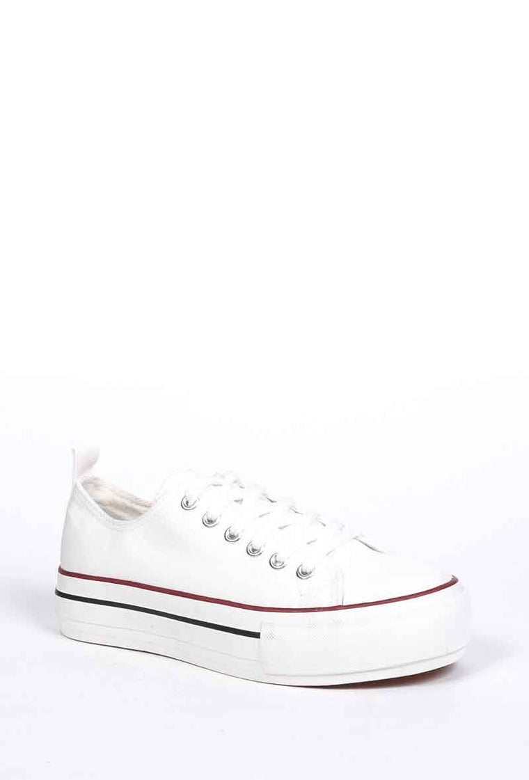 Sneakers platform in tela