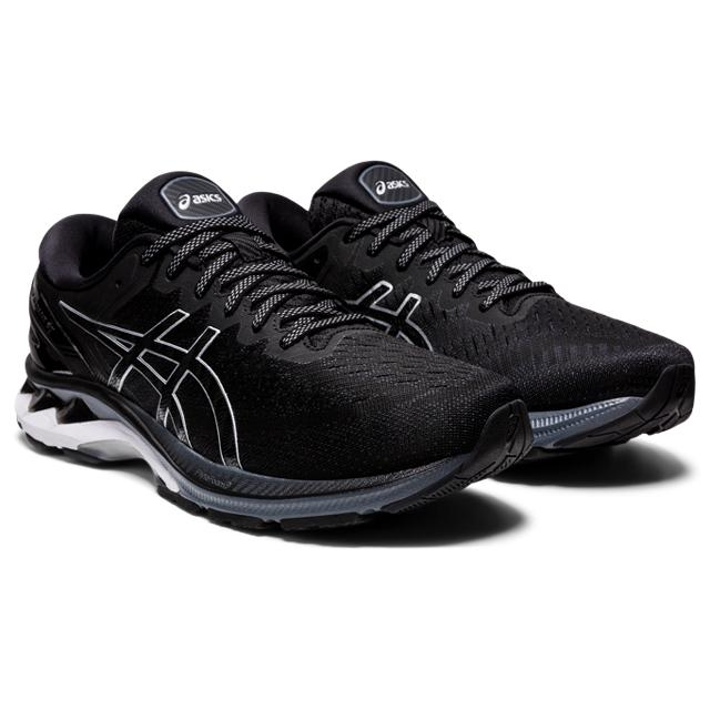 Men's Asics Gel-Kayano 27 Wide (4E) Black/Pure Silver