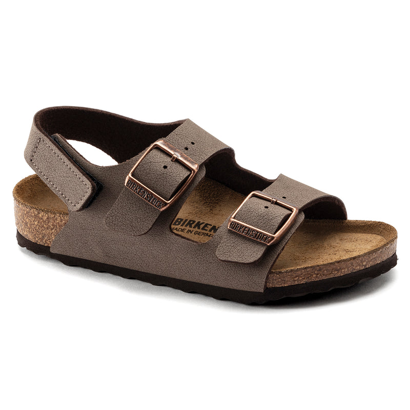 Birkenstock Kids Milano Hook and Loop Birkibuck Mocha