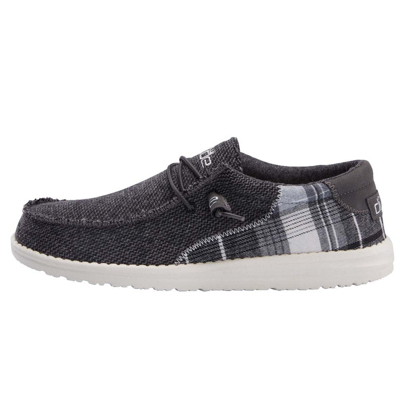 Men's Hey Dude Wally Tartan Grey