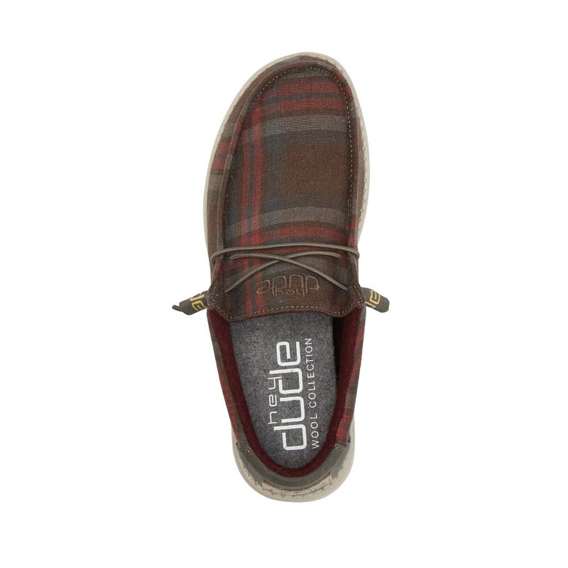 Men's Hey Dude Wally Funk Plaid Choco Red
