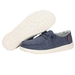 Women's Hey Dude Wendy Linen Chambray Navy White