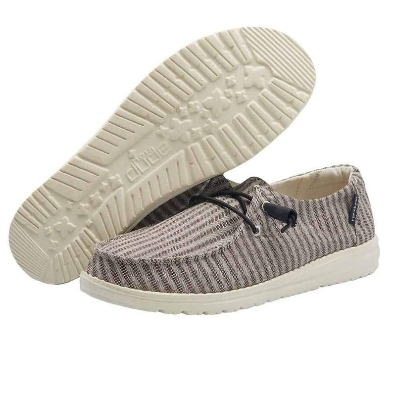 Women's Hey Dude Wendy Stripes Grey