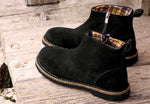 Birkenstock Melrose Black Suede Leather Ankle Boots