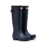 Hunter Original Back Adjustable Rain Boots Navy - WFT1001RMANVY