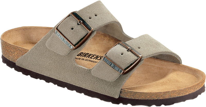 Birkenstock Arizona Suede Leather Taupe NARROW