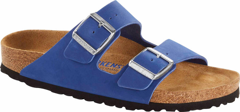 Birkenstock Arizona Azure Blue Birko-Flor SOFT Footbed NARROW