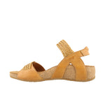 Taos Bonnie Camel Woven Leather Supportive Sandals