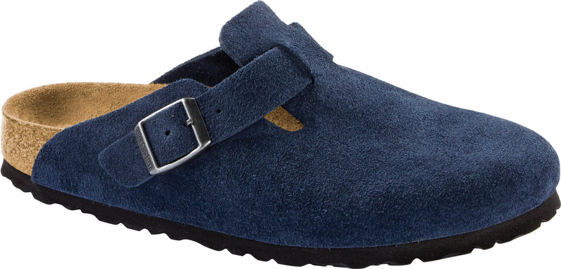 Birkenstock Boston Suede Leather Night SOFT Footbed