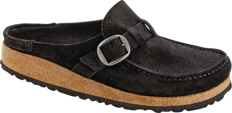 Women's Birkenstock Buckley Black Suede
