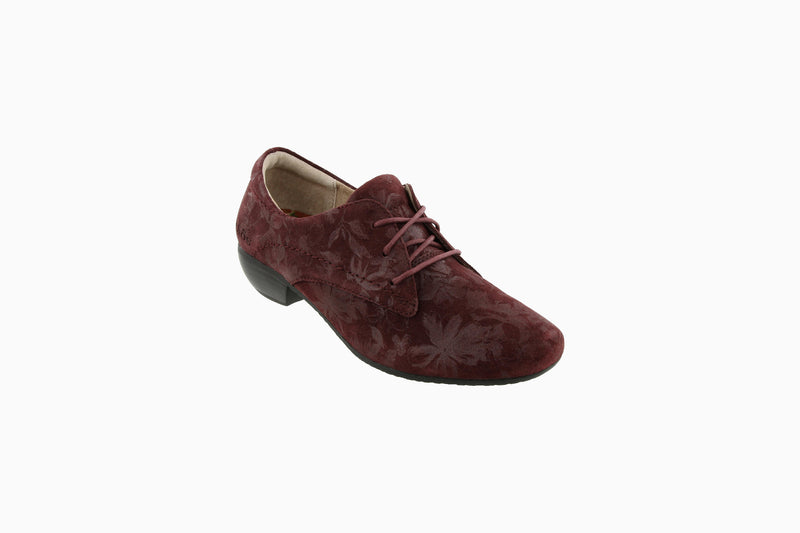 Taos Cobbler Burgundy Printed Suede Supportive Casual Shoes