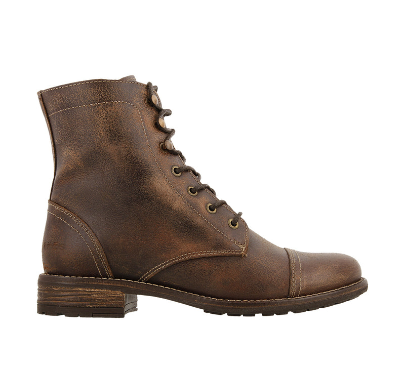 Taos Comrade Lace up Brown Leather Boots