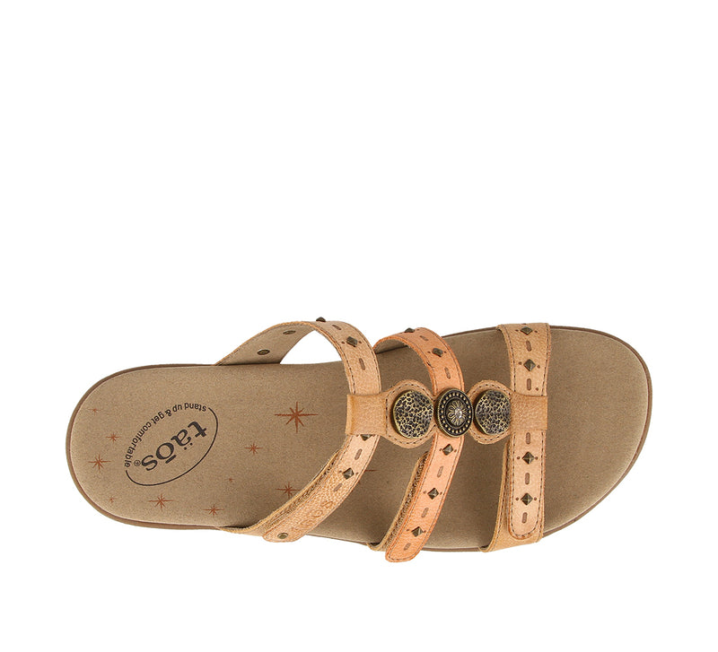 Taos Festive Honey Multi Leather Supportive Sandals