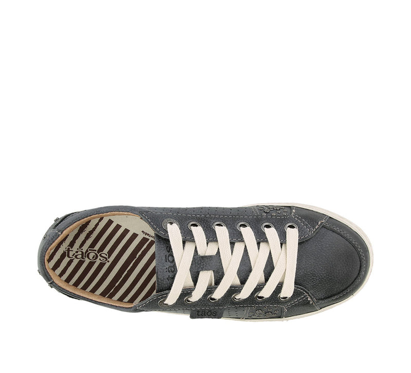 Taos Freedom Navy Leather Supportive Sneakers