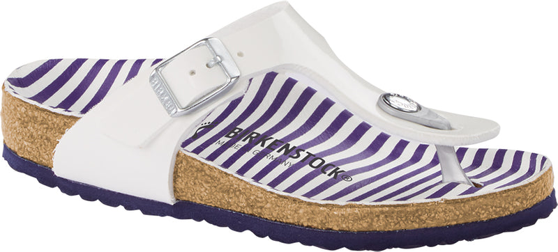 Birkenstock Kids Gizeh Birko-Flor Nautical Stripes White