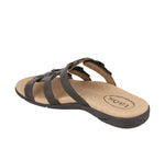 Taos Good Times Black Leather Supportive Sandals