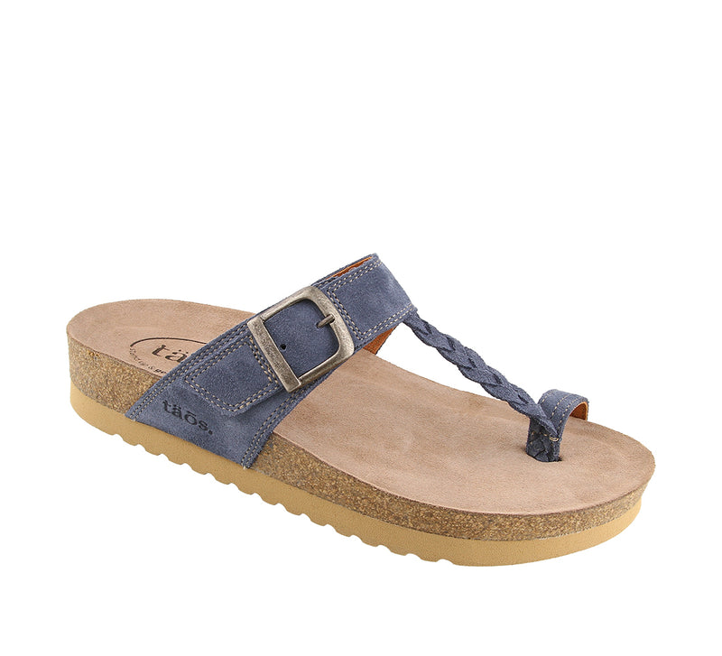 Taos Hippie Blue Suede Leather Supportive Sandals