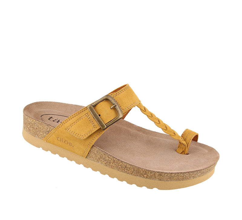 Taos Hippie Wheat Suede Leather Supportive Sandals