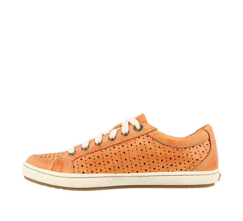 Taos Jester Cantaloupe Leather Supportive Sneakers