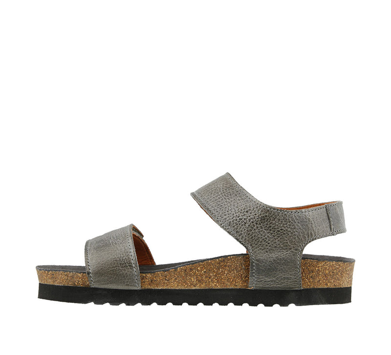Taos Luckie Graphite Leather Supportive Sandals