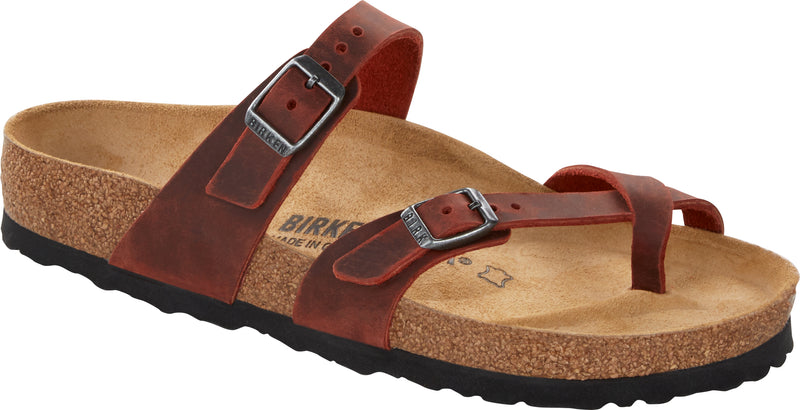 Birkenstock Mayari Oiled Leather Earth Red