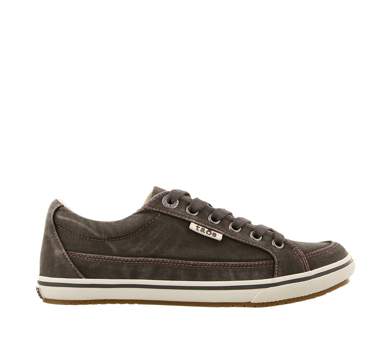 Taos Moc Star Graphite Distressed Canvas Supportive Sneakers