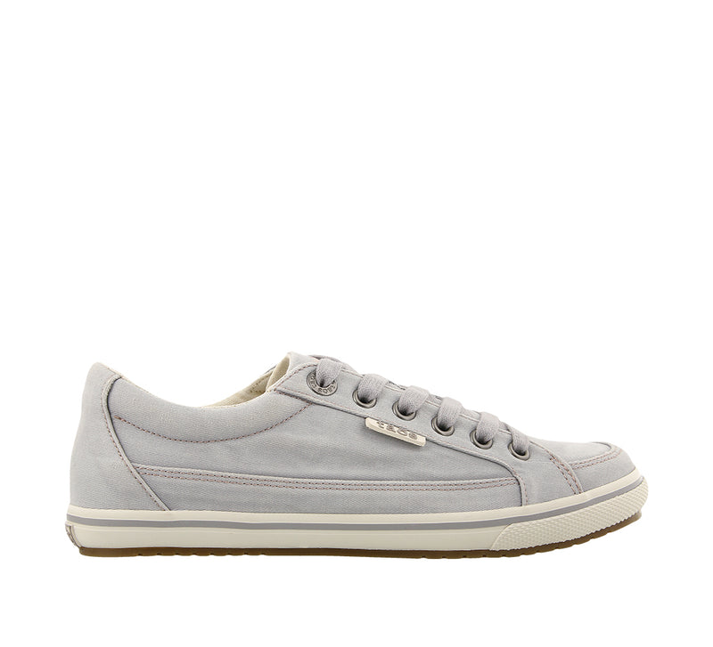 Taos Moc Star Light Grey Distressed Canvas Sneakers