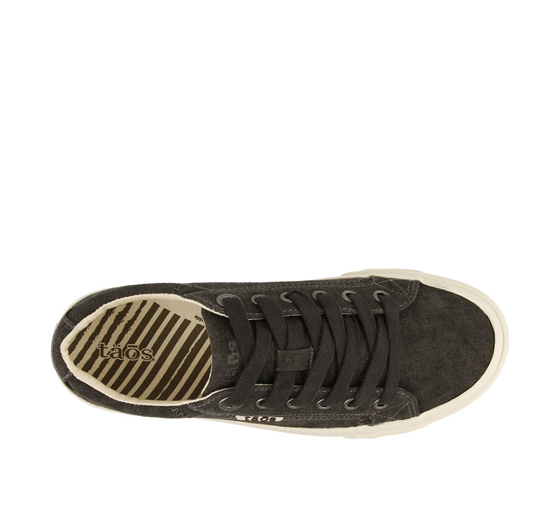 Taos Plim Soul Charcoal Washed Canvas Sneakers