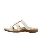 Taos Prize 3 White Leather Supportive Sandals