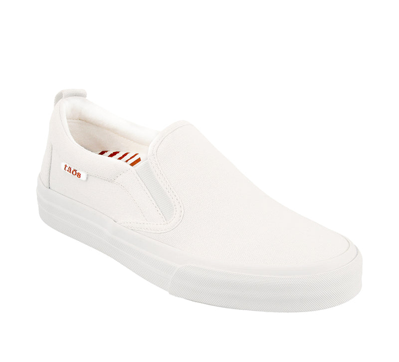 Taos Rubber Soul White Canvas Supportive Sneakers