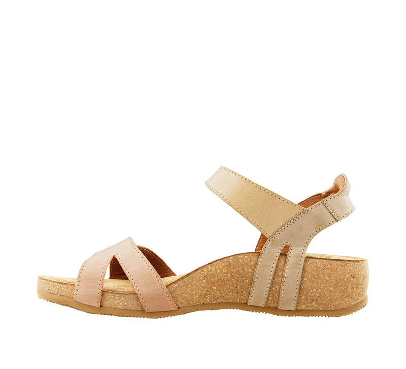 Taos Sadie Blush Multi Leather Supportive Sandals