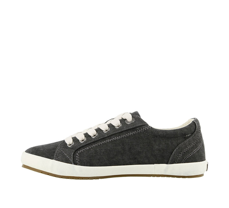 Taos Star Charcoal Washed Canvas Supportive Sneakers