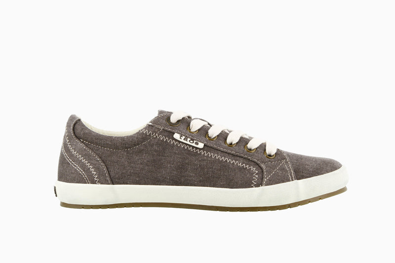 Taos Star Chocolate Washed Canvas Sneakers