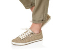 Taos Star Khaki Washed Canvas Sneakers