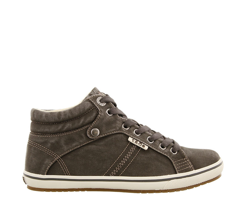 Taos Top Star Graphite Distressed High Top Canvas Sneakers