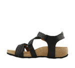Taos Trulie Black Woven Leather Sandals