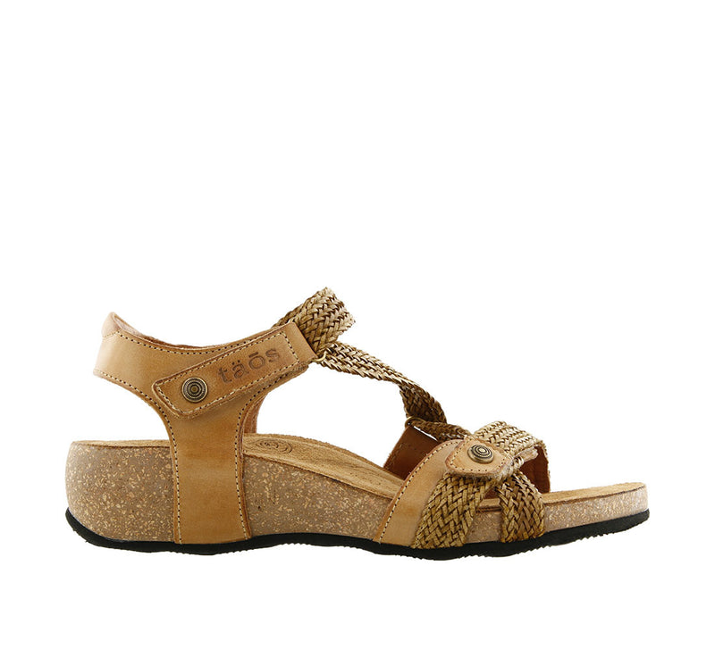 Taos Trulie Camel Woven Leather Supportive Sandals