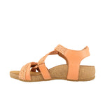 Taos Trulie Cantaloupe Woven Leather Supportive Sandals